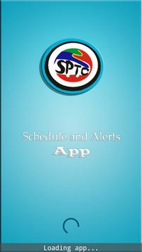 SPTC Schedule and Alerts poster