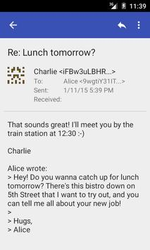 Bote: Private Email on I2P apk screenshot