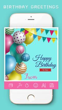 Birthday Greetings card Maker poster