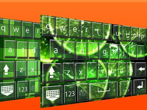 Green  keyboard themes screenshot 2