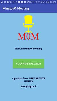 MoM: Minutes of Meeting poster