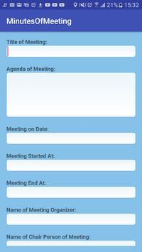 MoM: Minutes of Meeting screenshot 2