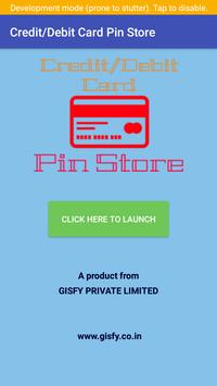 Credit/Debit Card Pin Store poster