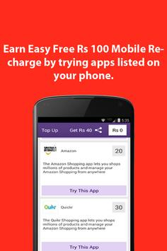 Free Rs 100 Mobile Recharge poster