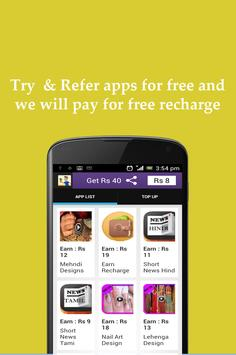 Earn Recharge Free Recharge apk screenshot