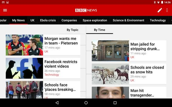 BBC News apk screenshot