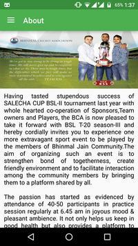 Bhinmal Cricket Association poster
