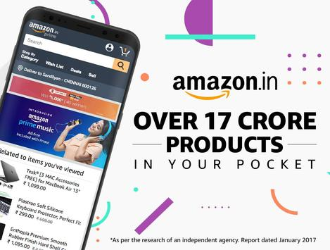 Amazon India Online Shopping Plakat