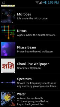 Shani Dev Live Wallpaper Poster Apk Screenshot