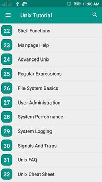Unix Tutorial ảnh chụp màn hình 2