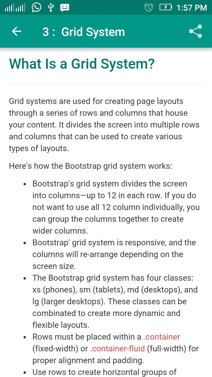 Bootstrap Tutorial for Android - APK Download