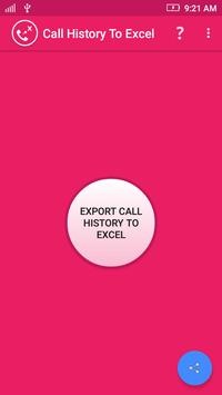 Call History To Excel poster