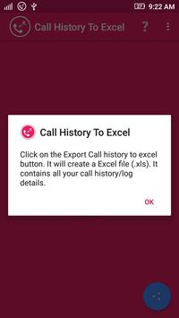 Call History To Excel apk screenshot