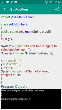 Java Tutorial apk screenshot