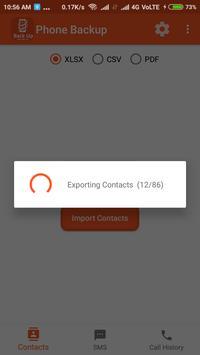 Backup Phone To XLSX PDF and CSV screenshot 1