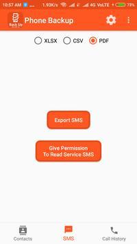 Backup Phone To XLSX PDF and CSV screenshot 2