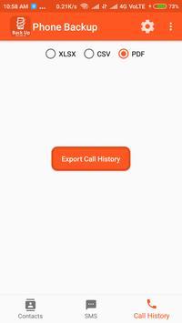 Backup Phone To XLSX PDF and CSV screenshot 3