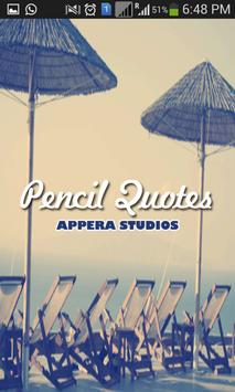 Pencil Quotes poster