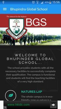 Bhupindra Global School poster