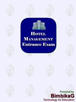 Hotel Management Entrance Exam poster