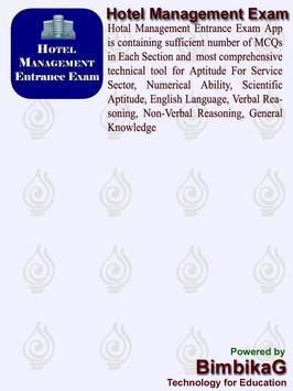 Hotel Management Entrance Exam apk screenshot