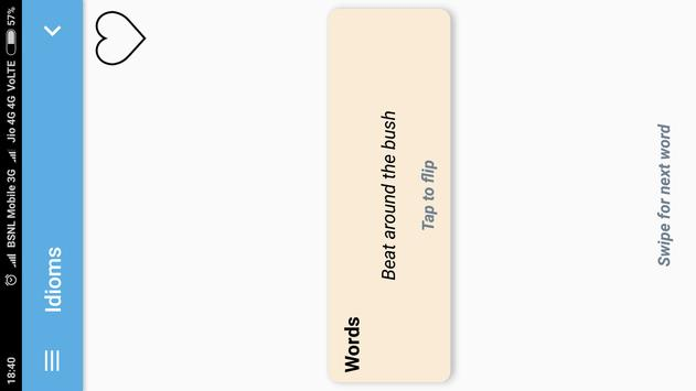 Hindi-English Vocabulary Builder (हिंदी-अंग्रेज़ी) screenshot 19