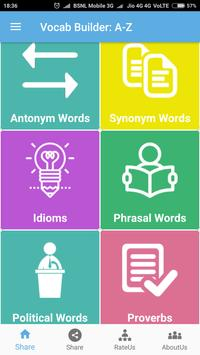 Hindi-English Vocabulary Builder (हिंदी-अंग्रेज़ी) screenshot 1