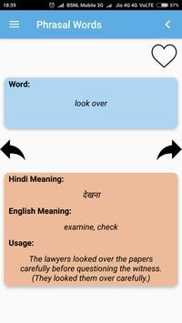 Hindi-English Vocabulary Builder (हिंदी-अंग्रेज़ी) screenshot 2