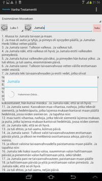 Finnish Bible apk screenshot