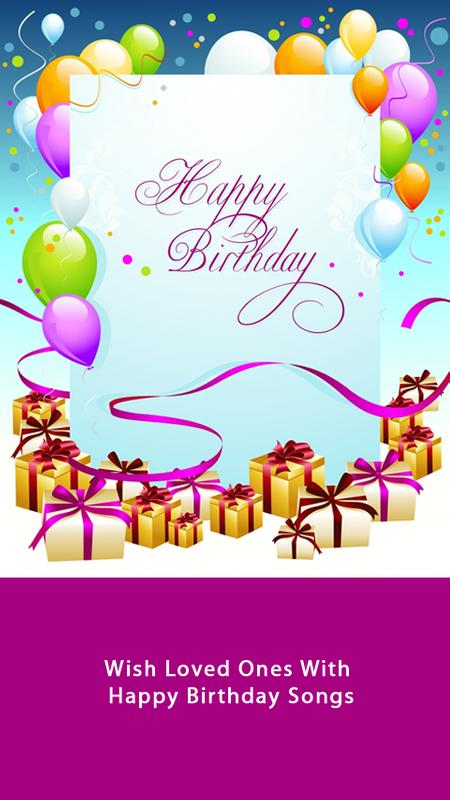 Happy Birthday Song By Name Plakat