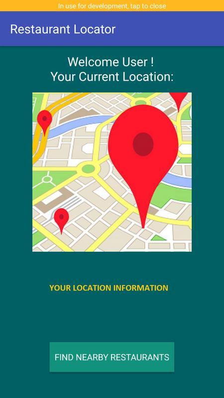 Nearby Restaurant Quick Locator And Finder Screenshot 1
