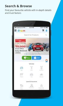 Droom: Used & New Car, Bike, Insurance, Loan & RTO poster