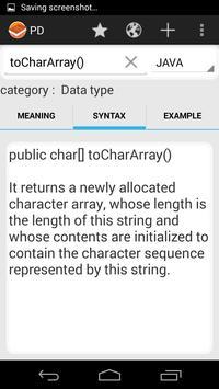 Programmer's Dictionary captura de pantalla 3