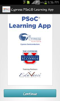 Cypress PSoC® Learning App poster