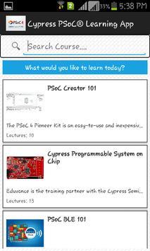 Cypress PSoC® Learning App apk screenshot