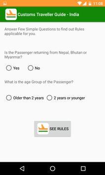 Customs Traveller Guide India screenshot 1