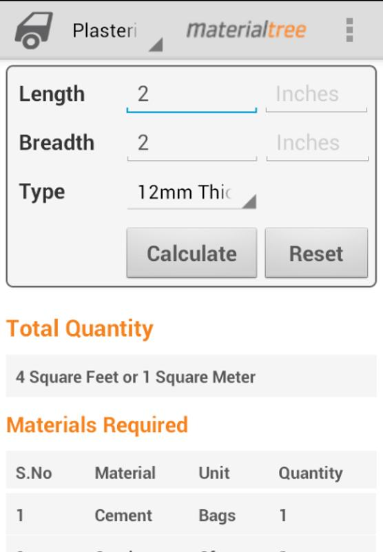 Building materials calculators apk baixar gr tis for Material cost to build a house calculator
