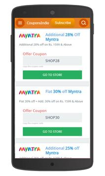 Online Indian Fashion Coupons apk screenshot