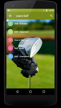 Learn Golf poster