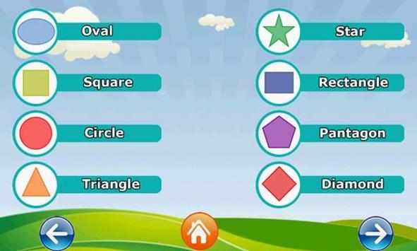 Shapes for Kids screenshot 1