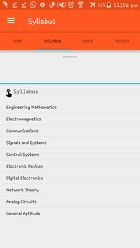GATE Syllabus for EC 2018 & Notifications screenshot 1