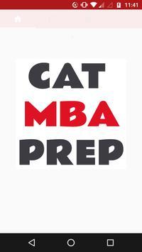 CAT MBA PREP poster