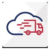 Wheels on cloud icon