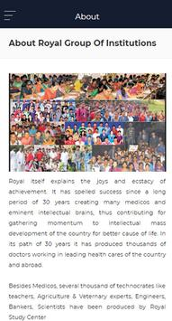 Royal Group of Institutions apk screenshot