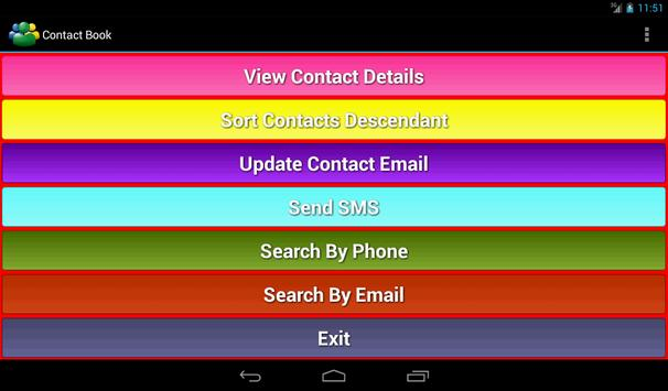 Contact List apk screenshot