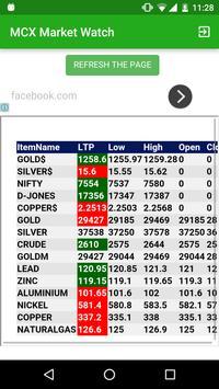 MCX Commodity Market Watch apk screenshot