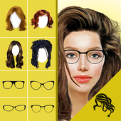 Hairstyle Changer app, virtual makeover women, men icon
