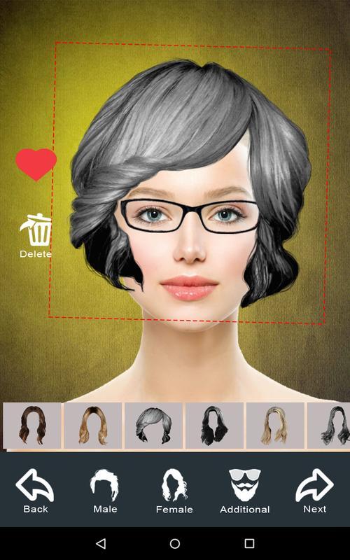 hairstyle changer app virtual makeover women men apk download gratis fotografi apl untuk. Black Bedroom Furniture Sets. Home Design Ideas