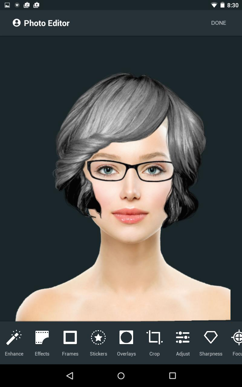 Hairstyle Changer app, virtual makeover women, men for Android