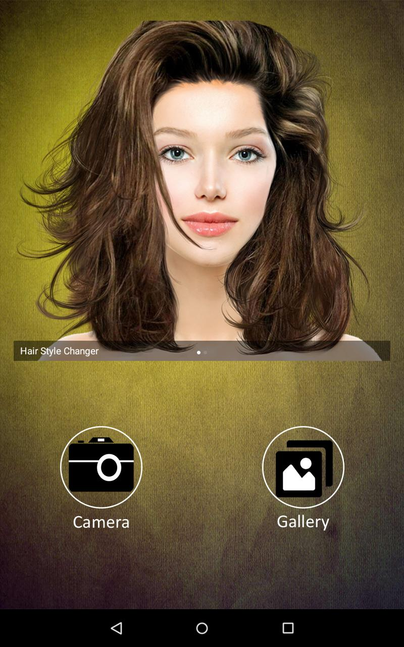 Hairstyle Changer app, virtual makeover women, men für Android